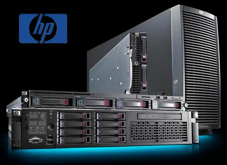 HP storage and server infrastructure