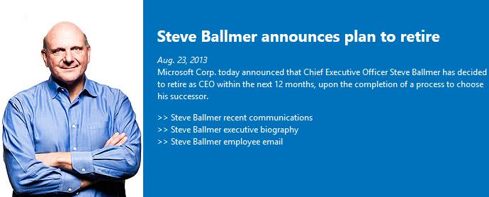 Steve Ballmer to retire