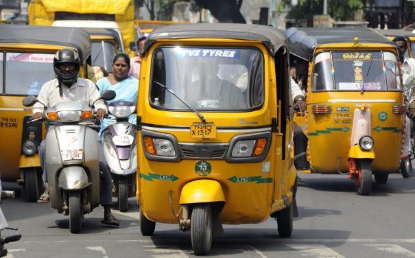 Auto rikshaws in Chennai