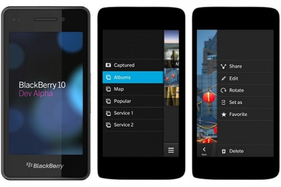BlackBerry 10 smartphones