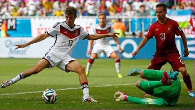 Germany against Portugal