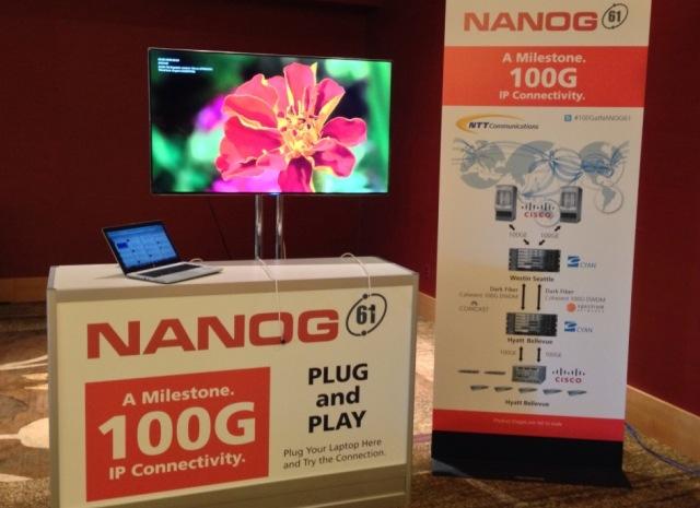 NTT Com,Cisco,Cyanfor 100G IP connectivity toNANOG 61