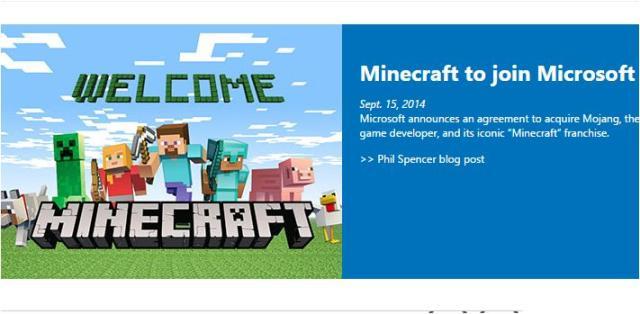 Microsoft Minecraft deal details