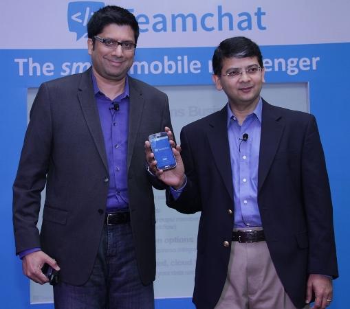 Ravi Rundararajan, COO,  and Beerud Sheth, CEO,Teamchat