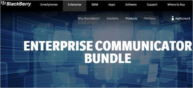 BlackBerry adds Communicator bundle