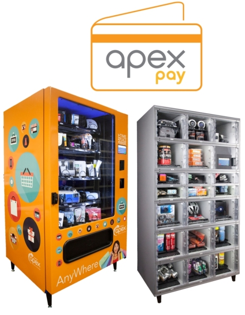 Apex's cashless self-service shopping solutions for retail