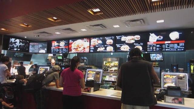 McDonald's digital menu