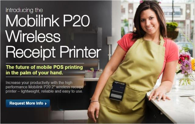 Epson Mobilink P20 Wireless Receipt Printer