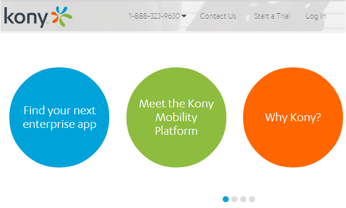 Kony mobile apps vendor