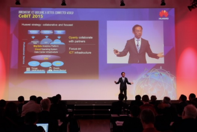 Ryan Ding presented at Huawei Press Conference Keynote at CeBIT 2015