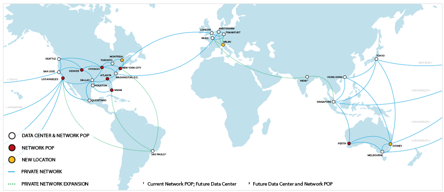 SoftLayer's global network