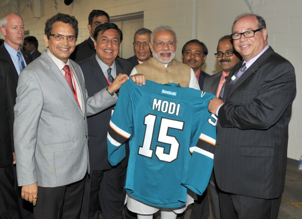 Narendra Modi at the SAP Centre, in San Jose, California