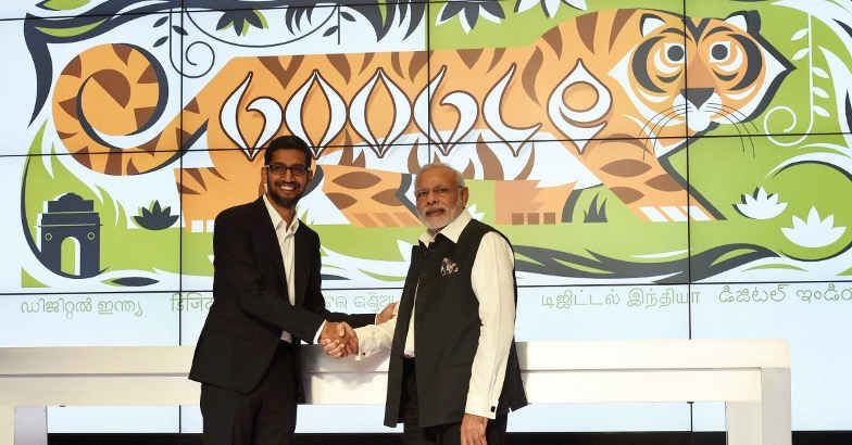 PM Modi and Google CEO Sundar Pichai