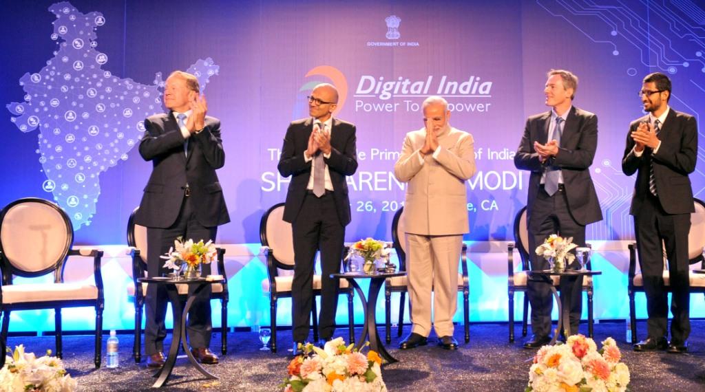 Tech CEOs and PM Modi in the US