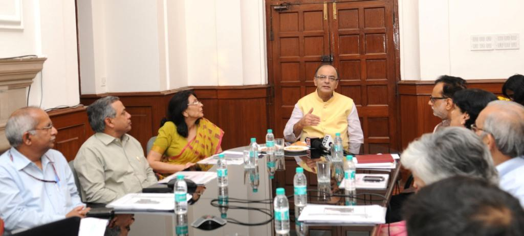 Arun Jaitley addressing after inaugurating the PAN Camps and launch E-Sahyog