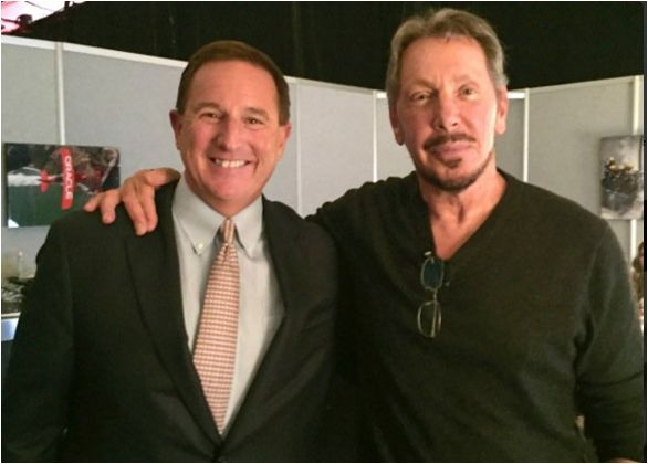 Oracle CEO Mark Hurd and CTO Larry Ellison