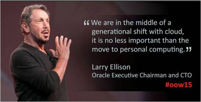 Oracle CTO Larry Ellison at #OOW2015