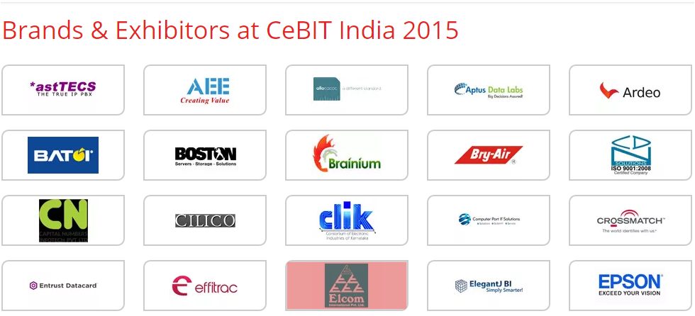 Some partners at CeBIT 2015