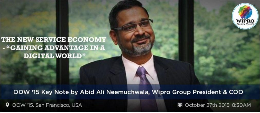 Wipro COO Abid Ali Neemuchwala