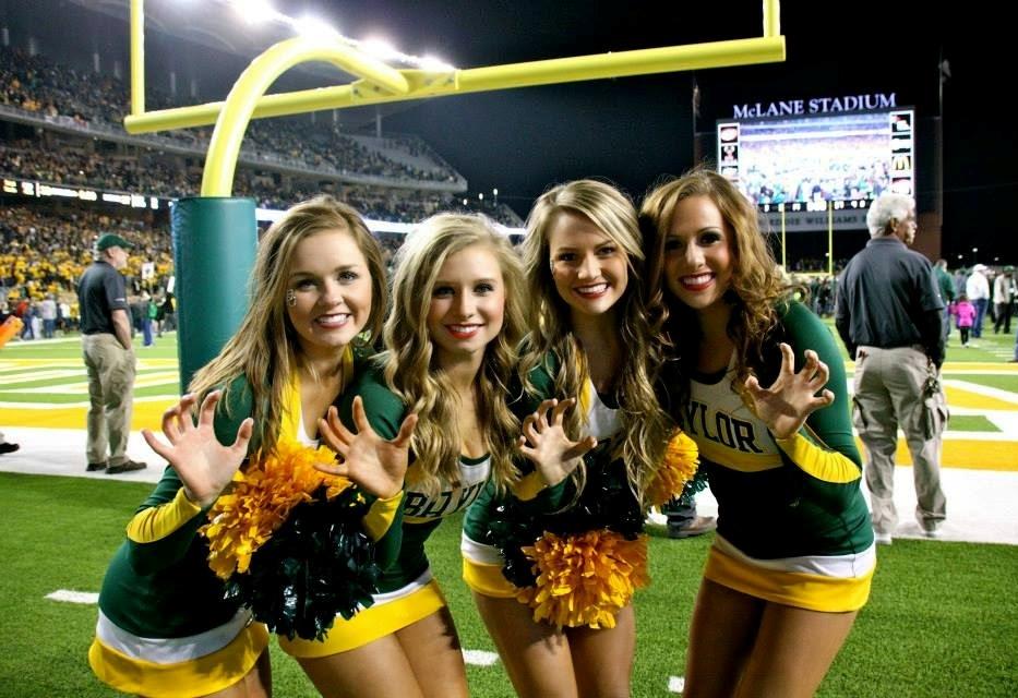 Cheerleaders at sprorts venue