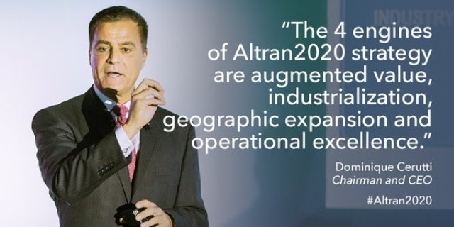Altran CEO Dominique Cerutti