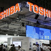 Toshiba at an event