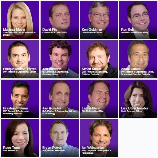 Yahoo Executive Team