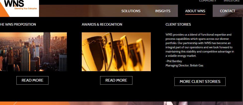 WNS website