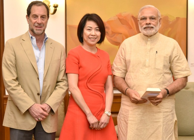Ruckus Wireless CEO Selina Lo meet Prime Minister Narendra Modi