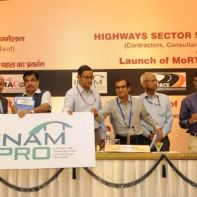 Nitin Gadkari launching the MoRTH's IT Initiative