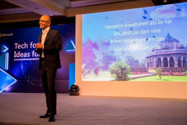 Satya Nadella at Microsoft's Tech for Good, Ideas for India