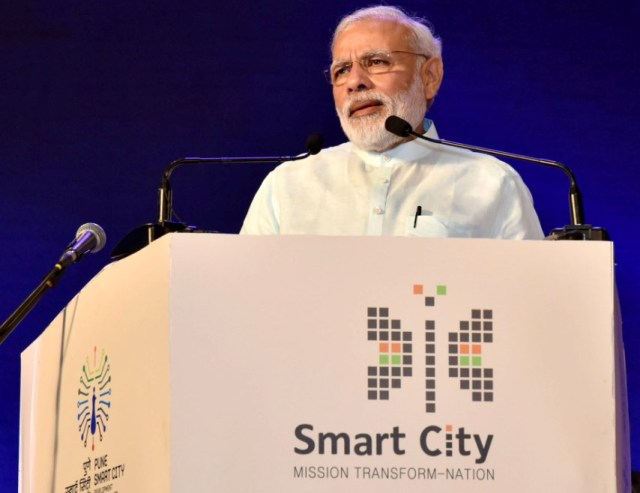 PM Narendra Modi at Smart City inauguration in Pune