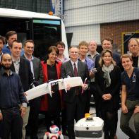 Accenture CEO Pierre Nanterme visits with RoboValley robotics researchers