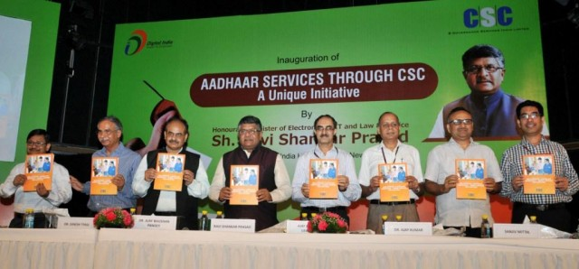 Aadhaar Services through CSC initiative