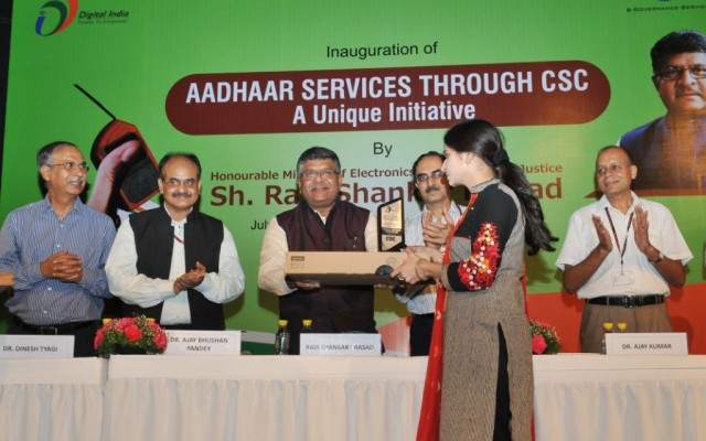 Aadhaar Services through CSC