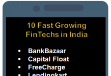 FinTech companies India by IDC