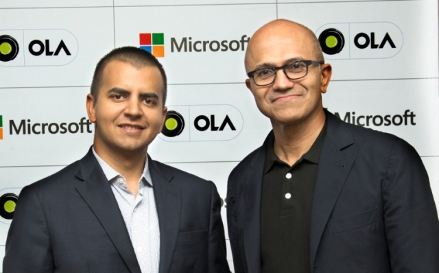Microsoft for connected cars for Ola