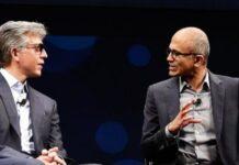 SAP CEO Bill McDermott and Microsoft CEO Satya Nadella
