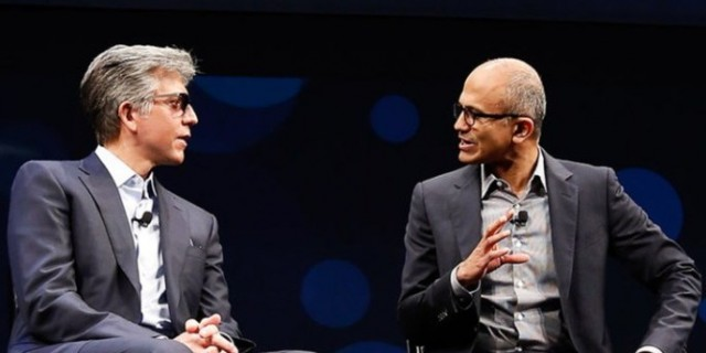 SAP CEO Bill McDermott and Microsoft CEO Satya Nadella