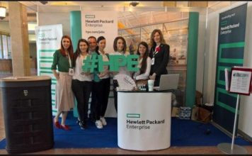 HPE at a recent trade event on IT
