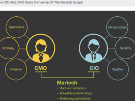 CIO and CMO share of marketing technology spend