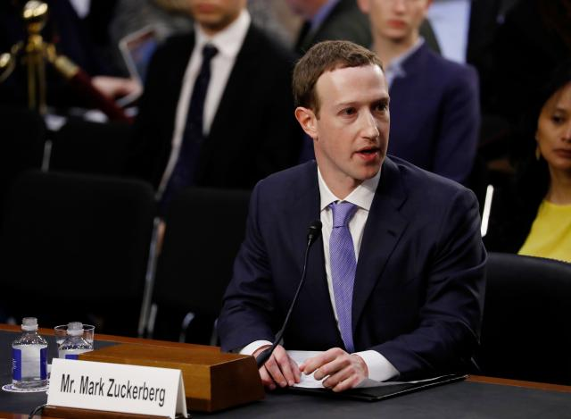 Facebook CEO Mark Zuckerberg on data security