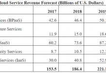 Public Cloud service revenue forecast