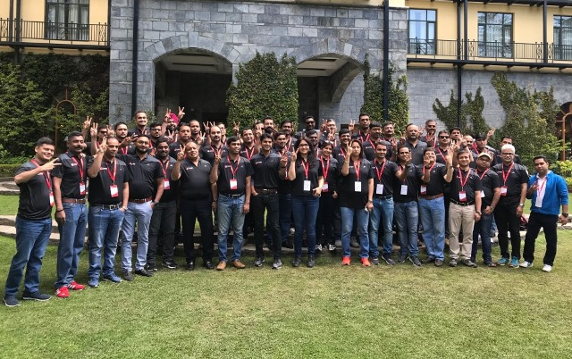 Team Trend Micro at the Annual Partner Day event 2018 at Shimla