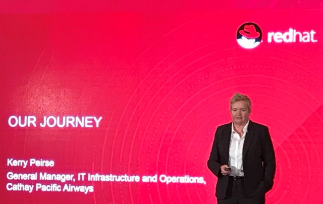 Kerry Peirse Cathay Pacific at Red Hat Summit