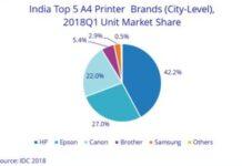 Printer market India Q1 2018
