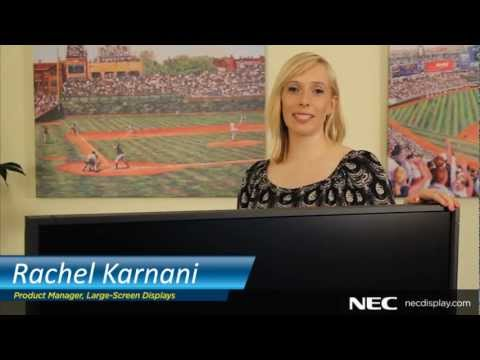 Rachel Karnani, product manager for Large-Screen Displays at NEC Display Solutions
