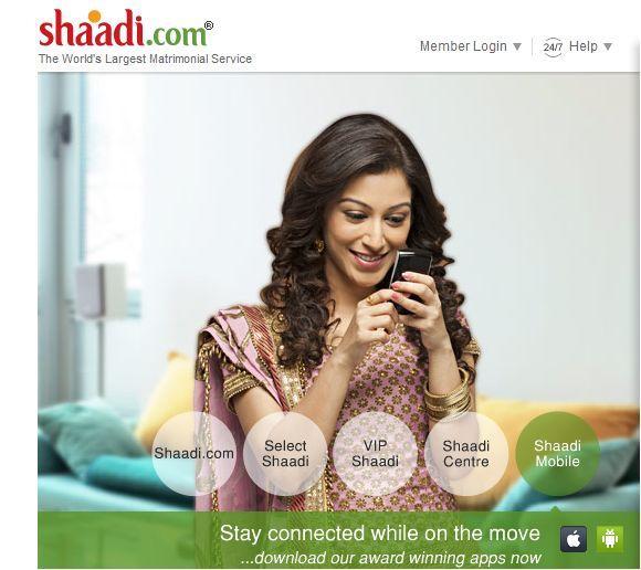shaadi com website