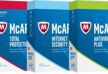 McAfee antivirus for PCs