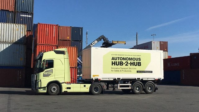 Volvo self-driving truck